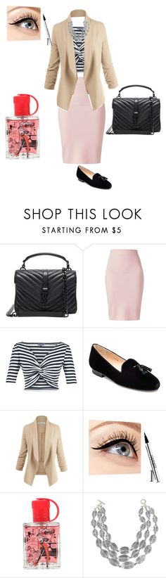 """""""Untitled #2664"""" by ayse-sedetmen ❤ liked on Polyvore featuring Yves Saint Laurent, Winser London, Lena Hoschek, Jon Josef, Luminess Air and Saks Fifth Avenue"""