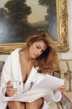 Cindy Crawford in Paris, October 1995