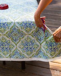 Easy Ways to Make Indoor and Outdoor Chair Cushion Covers Patio Furniture Cushions, Outdoor Chair Cushions, Reupholster Furniture, Outdoor Chairs, Recover Patio Cushions, Outdoor Rooms, Indoor Outdoor, Patio Cushion Covers, Making Cushion Covers