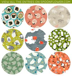 So pleased to see my pattern among those promoted at Spoonflower.
