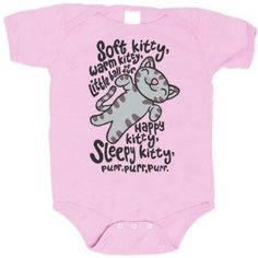 For awesome parents only: Soft Kitty onesie