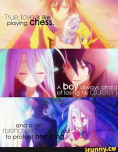 Anime:No game no life (c)owner Sad Anime Quotes, Manga Quotes, Sad Quotes, Inspirational Quotes, Daily Quotes, Game No Life, Anime Life, Fairytail, Cute Quotes