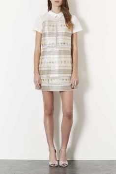 Collar Jacquard Dress