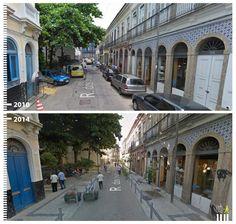 R. dos Inválidos, Rio de Janeiro, Brazil Paving Design, Urban Ideas, Pedestrian, Pavement, Public Transport, Walkway, Urban Design, Paths, Sidewalk