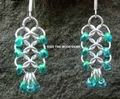 Womens Beaded 4-1 Chainmaille Earrings. $10.00, via Etsy. by minnie slade