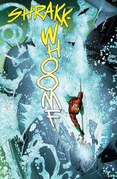Underwater Battle in Aquaman #13