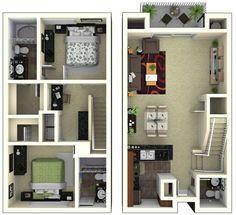 Casa de 1 andar com 2 quartos