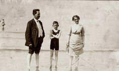 Rosa and family at Blackpool in 1914