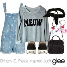 """""""Brittany S. Pierce inspired outfit/Glee"""" by tvdsarahmichele on Polyvore"""