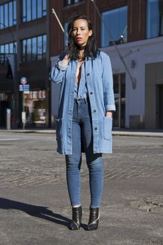There's nothing wrong with a Winter uniform when it's stylish. Relying on the same pieces that you can change up day to day makes getting dressed effortless. Black Ankle Booties, Ankle Boots, Get Dressed, Skinny Jeans, Booty, Stylish, How To Wear, Outfits, Dresses