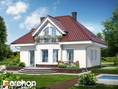 Projekt domu Dom w robiniach - ARCHON+ Home Fashion, House Plans, Farmhouse, Mansions, House Styles, Home Decor, Blueprints For Homes, Mansion Houses, Homemade Home Decor