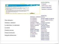 Unidad 2 de Lengua de 2º de Primaria Texts, Synonyms And Antonyms, Interactive Activities, Spanish Language, Unity, United States