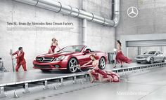 The Print Ad titled Dream Factory (1/3) was done by VVL BBDO Belgium advertising agency for product: Mercedes-benz Sl-class (brand: Mercedes-Benz) in Belgium. Description from advertolog.com. I searched for this on bing.com/images