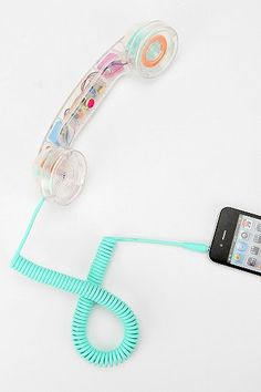 NATIVE UNION Pop Phone Handset - Clear. kind of awesome. reminds me of being a teenager!