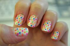 Here are our top 35 easy nail designs for kids which girls of all ages can try out. Simple polka dots nail art for kids, cartoon nail art ...