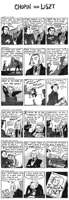 "Procrastinating by continuously clicking ""random"" on Kate Beaton's site."
