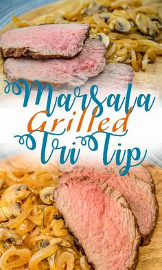 Marsala Grilled Tri Tip Steak Duck Recipes, Beef Recipes, Marsala, Easy Dinner Recipes, Easy Meals, Dinner Ideas, Pork And Beef Recipe, Tri Tip, Tasty Videos