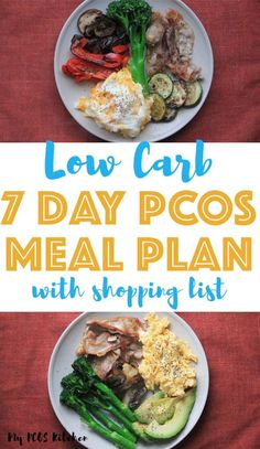 Need easy dinner ideas for your low carb menu? Then try this simple PCOS meal plan. All recipes are gluten free and sugar free and some recipes are also dairy free. It's the perfect low carb meal plan for beginners and for those looking to lose weight. Pcos Meal Plan, 7 Day Meal Plan, Ketogenic Diet Meal Plan, Keto Meal Plan, Diet Meal Plans, Atkins Diet, Diet Menu, Meal Prep, Low Carb Menus