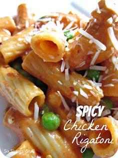 Bucca Di Beppo Spicy Chicken  Rigatoni on MyRecipeMagic.com #buccadibeppo #spicychicken #rigatoni