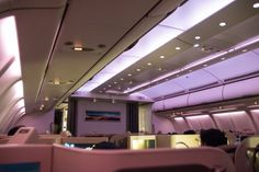 Etihad Business Class Airbus A330 Kabine ist bereit für die Landung #businessclass #airbus #boeing #economyclass #firstclass #etihad #travel #review #food #cabin äairbusa330