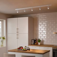 IKEA - LUNNOM, LED bulb 100 lumen, globe clear, The LED light bulb consumes up to less energy and lasts 10 times longer than incandescent bulbs. Rail Plafond, Spot Noir, Clear Light Bulbs, Ikea Family, Old Lights, Ceiling Spotlights, Ceiling Lights, Grey Glass, Luz Led