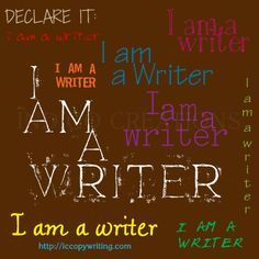 Graphics for the 15 Habits of Great Writers Challenge from Jeff Goins. Day One: Declare