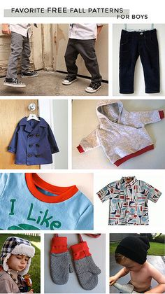 Sewing For Kids Clothes Free sewing patterns for little boy clothes. Sewing Projects For Kids, Sewing For Kids, Baby Sewing, Free Sewing, Sew Baby, Sewing Crafts, Boys Sewing Patterns, Baby Clothes Patterns, Clothing Patterns