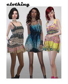 Sims 4 CC's - The Best: Retexture Marigold Dress by ShojoAngel
