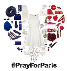 """#PrayForParis"" by marinarodrigues-2 ❤ liked on Polyvore featuring art, prayforpeace and prayforparis"