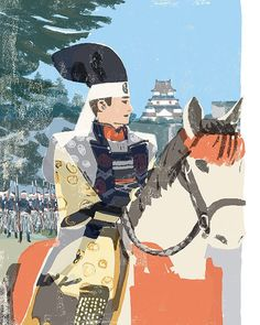 #samurai #edo #japan #illustration #illustrator #tatsurokiuchi #tragedy #horse