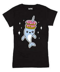 This Black Narwhal Donuts Tee - Girls by KidTeeZ is perfect! #zulilyfinds