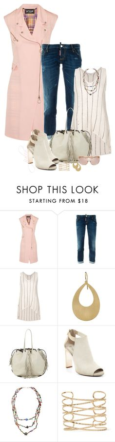 """""""White Shoes & Bag"""" by scottiej ❤ liked on Polyvore featuring Just Cavalli, Dsquared2, Brunello Cucinelli, Irene Neuwirth, Kara, BCBGMAXAZRIA, Kenneth Jay Lane and Linda Farrow"""