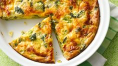 My, what a pie! A savory blend of cheddar cheese and broccoli in a pie that makes its own crust while it bakes.