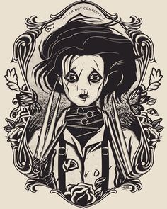 Illustrator: Dave Quiggle - for CRAZY4CULT 9 #gallerie1988 #edwardscissorhands #timburton