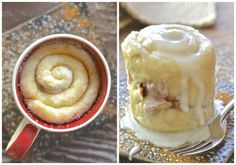 One Minute Cinnamon Roll In A Mug Recipe - If you have a mug, a microwave & a spoon you can make this single serving, oil-free One Minute Cinnamon Roll in a Mug. It's so easy & perfect for when those sweet cravings hit & you NEED dessert, like now!