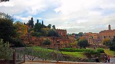 Na Janelinha para ver tudo: O Monte Palatino com suas as Domus Romanas, as cas...