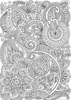 Calming Doodle Pattern colouring page