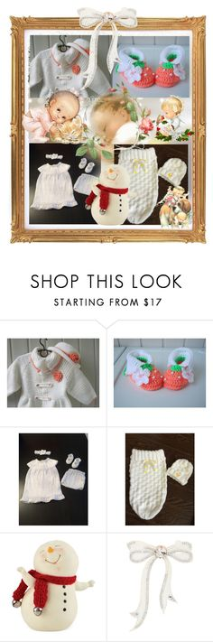 For Baby at Christmas! by cozeequilts on Polyvore featuring MARBELLA, Department 56 and Per Una