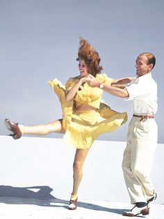 Rita Hayworth and Fred Astaire photographed for You Were Never Lovelier (1942)