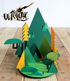 Gorgeous Paper Landscapes by Ultralazer – Geek Art – Art, Design, Illustration & Pop Culture !