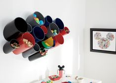 Buy Ethan Allen's Small Wow Wall Organizer, Set of Two or browse other products in desk & art caddies. Playroom Storage, Wall Organization, Wall Storage, Ethan Allen Disney, Modular Storage, Art Desk, Toy Rooms, Kids Room, Room Decor