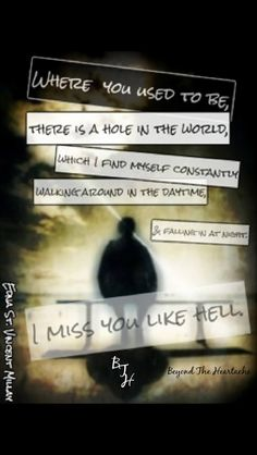 missing her - it just isn't the same any more- there is so much emptiness www.adealwithGodbook.com...