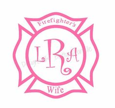 Firefighter Wife w/ initials Decal
