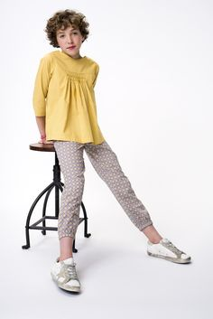Blusa mostaza + pantalón geométrico Liberty Claire, Liberty, Mini, Girls, Summer, Style, Fashion, Little Girl Clothing, Gift