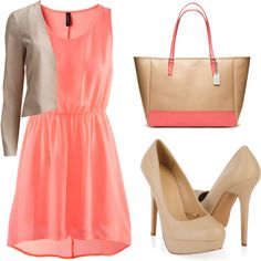 A fashion look from February 2015 featuring H&M dresses, VILA blazers and Forever 21 pumps. Browse and shop related looks.