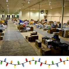 Only two weeks ago this is what our warehouse looked like - packed with gifts! Hard to believe another Christmas season has passed but we're so excited to see what 2017 brings (and how many families we can help)!  Tag a friend who you'd like to volunteer with next year!