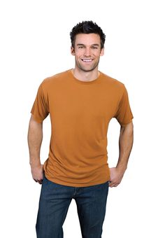 rust ONNO bamboo and organic cotton t-shirt for men. Rust never looked this good before. Now it feels even better too.