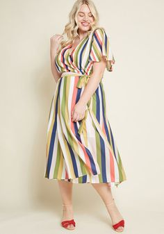 Knowingly Chic Wrap Dress in XS - Short Sleeve Midi aab16f7f383b