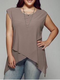 GET $50 NOW | Join RoseGal: Get YOUR $50 NOW!http://www.rosegal.com/plus-size-tops/plus-size-asymmetrical-chiffon-blouse-685030.html?seid=3634767rg685030