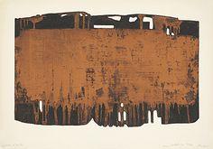 "Pierre Soulages (Born 1919 Rodez) ""Eau-forte XXV"" Farbaquatintaradierung 1974 52.8 x 75 cm Pr. 40 x 64.5 cm"